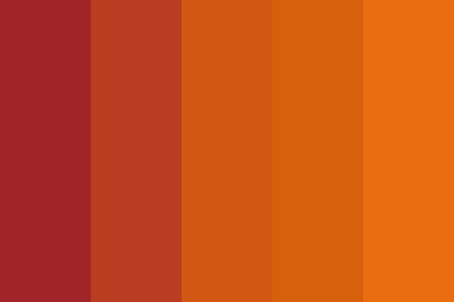 Red To Orange Practice Fade Color Palette