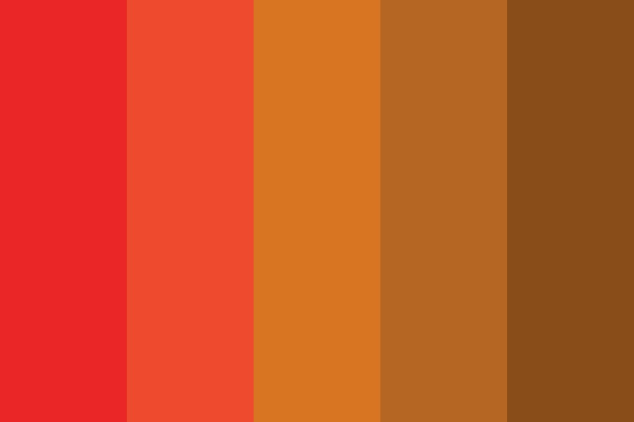 Red To Orange To Brown Color Palette