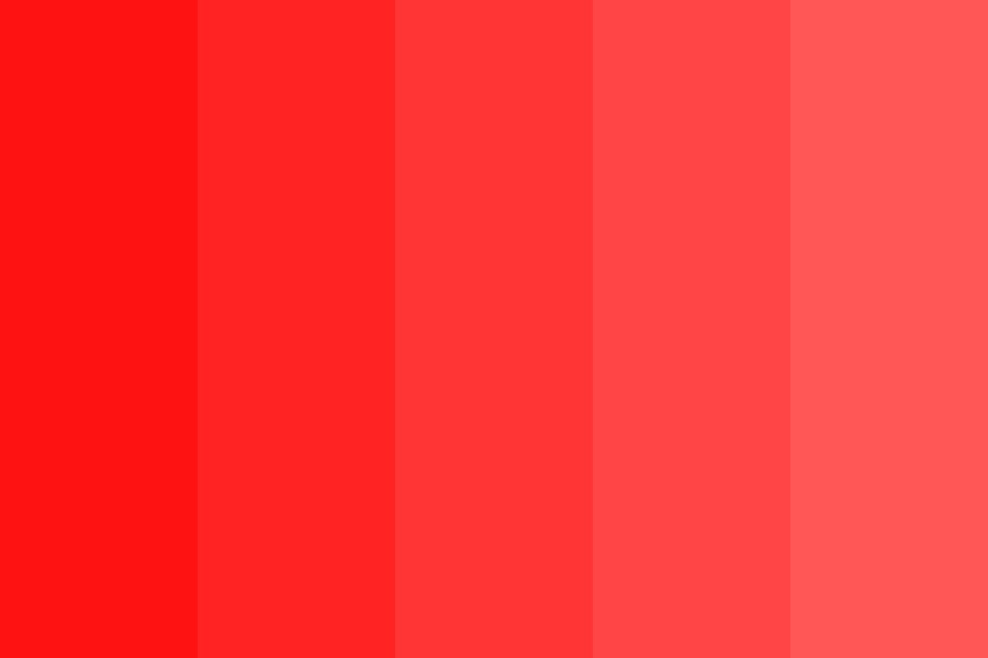 Red To Pink Gradient Color Palette
