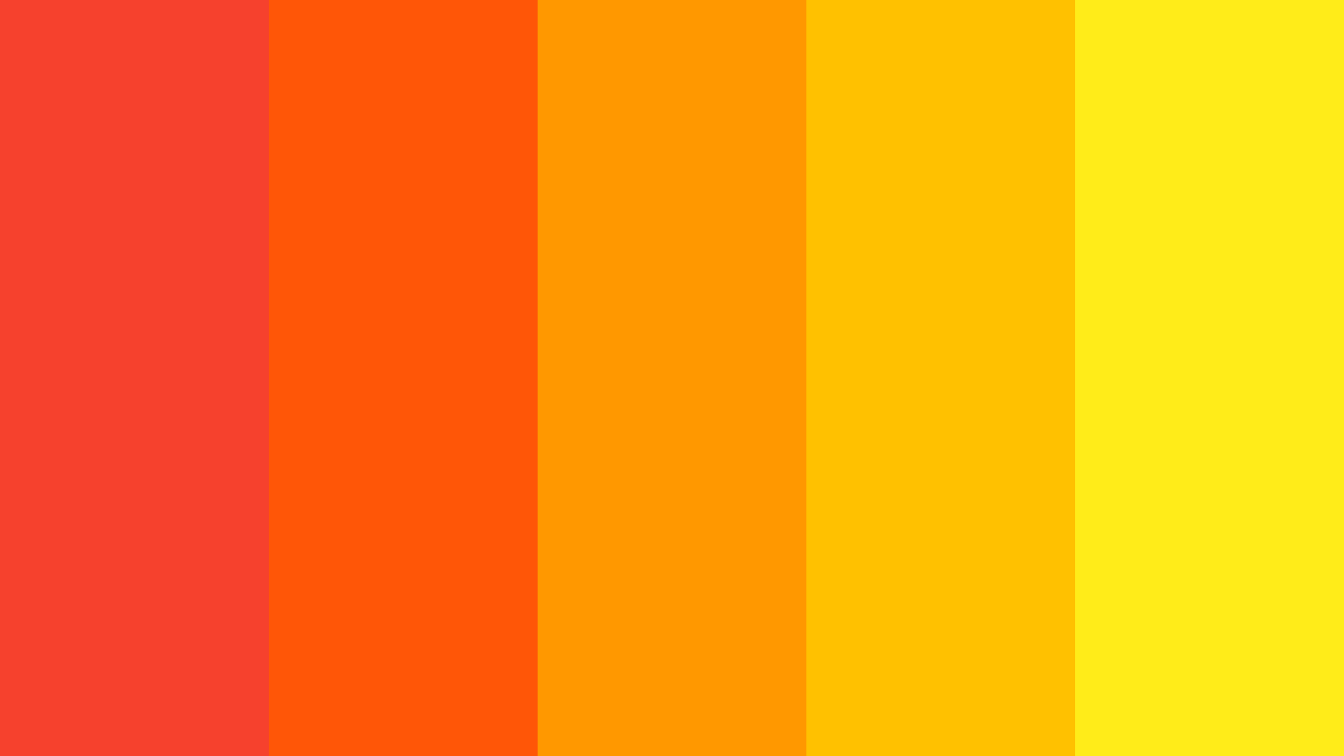 Red To Yellow Color Palette
