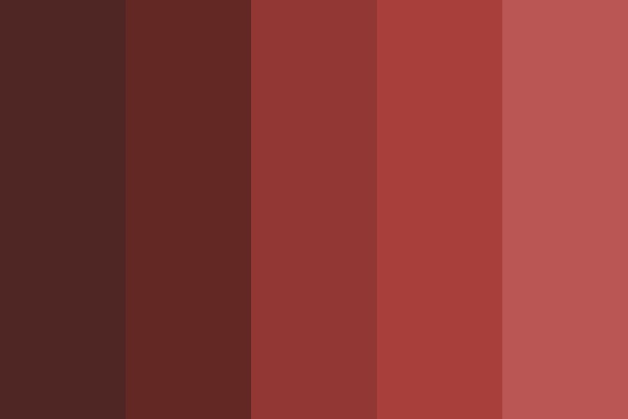 Red Tone Color Palette