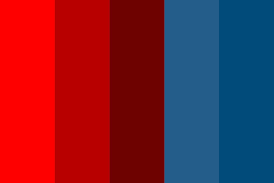 Red Water Color Palette