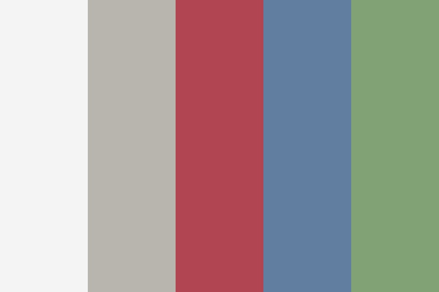 Red White And Green Color Palette