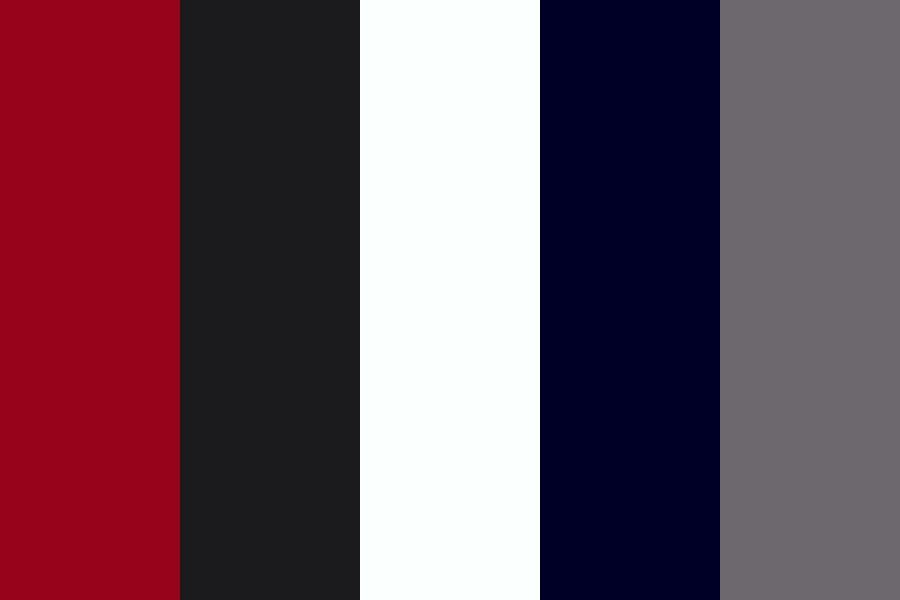 Red With Shades Of Grey Color Palette