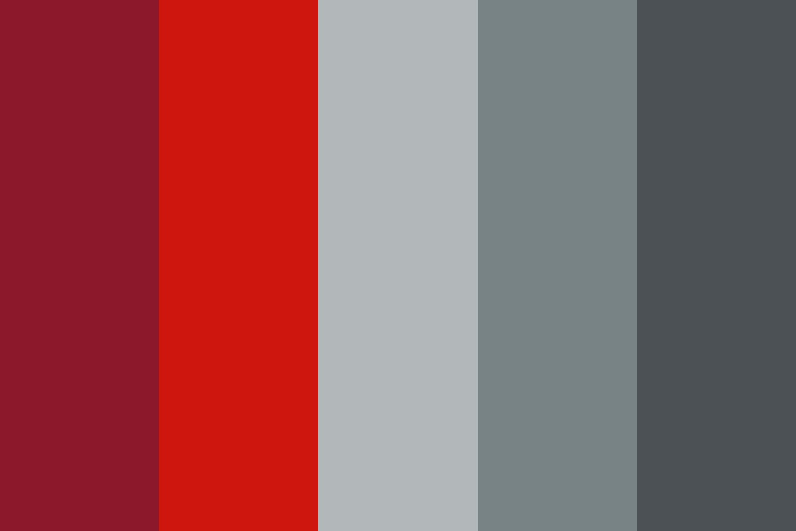Red bluegray Color Palette