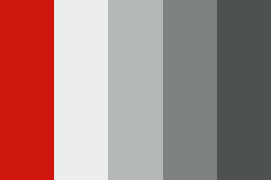 Red gray Color Palette