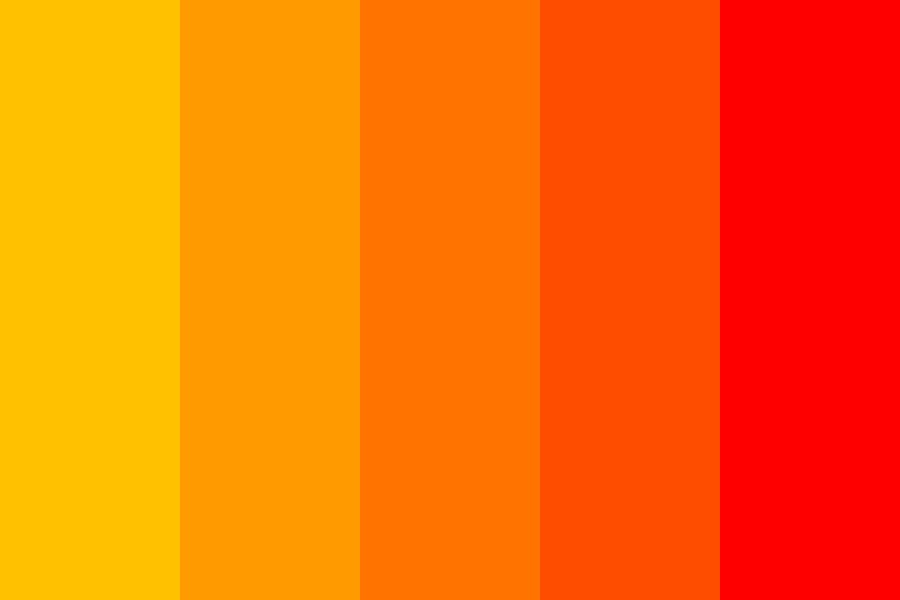 Red orange Color Palette