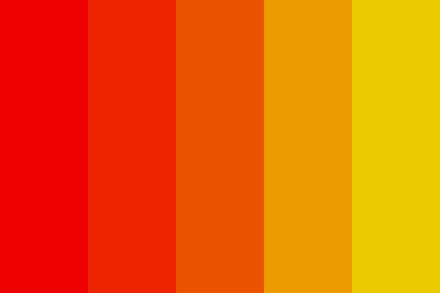 Red yellow Color Palette
