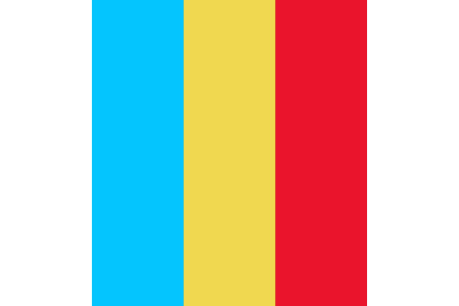 Red yellow blue Color Palette
