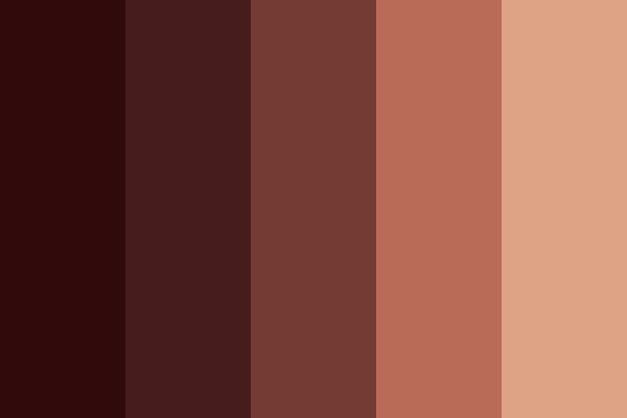 Reddish Brown Color Palette