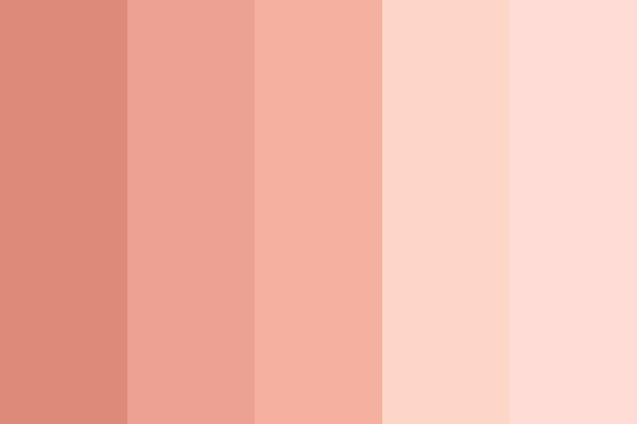 Reddish Skin Colors Color Palette