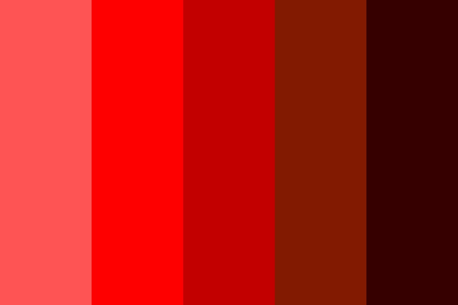 Reds Of Red Color Palette