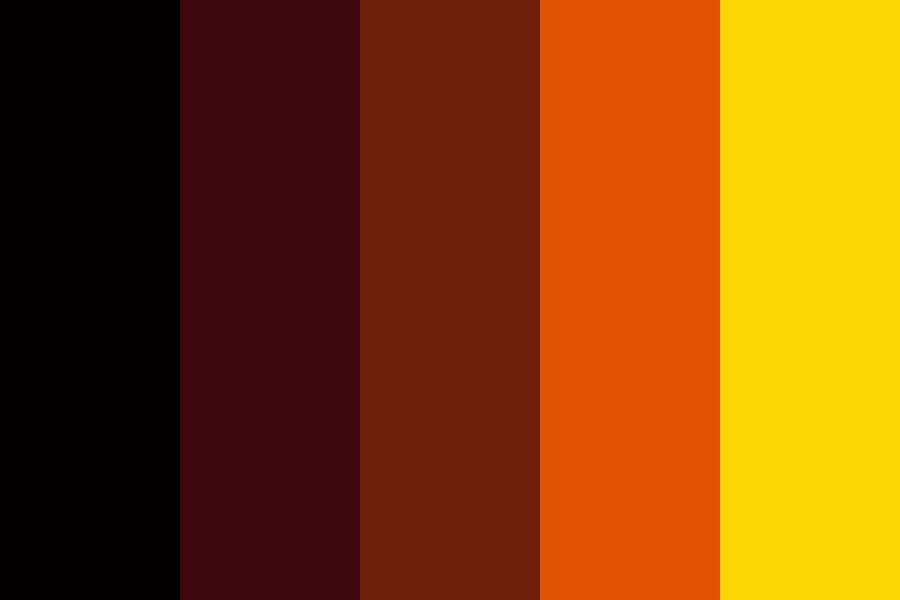 Reds Orange And Yellow Color Palette