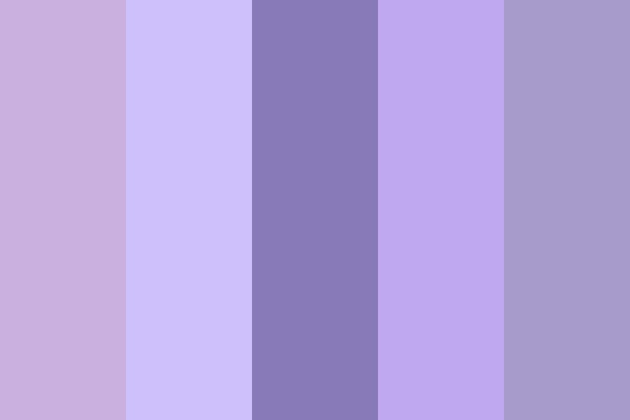 Regular Used   Soft Purples Color Palette