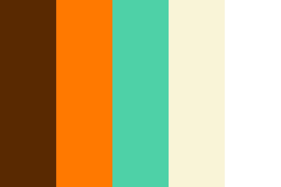 Retro Bacan Bedroom One Color Palette