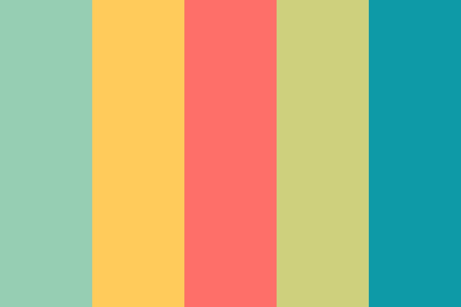 Retro Colourful Color Palette