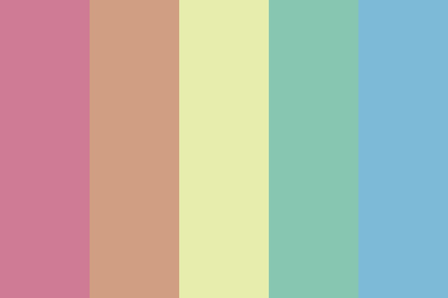 Retro Summer At The Beach Color Palette