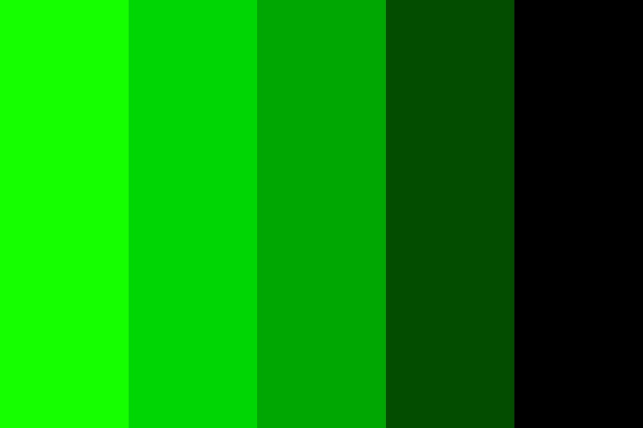 Reverse Monochromatic Green Color Palette