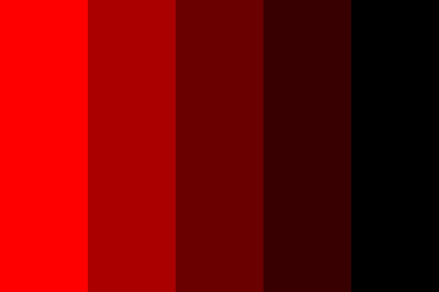 Reverse Monochromatic Red Color Palette