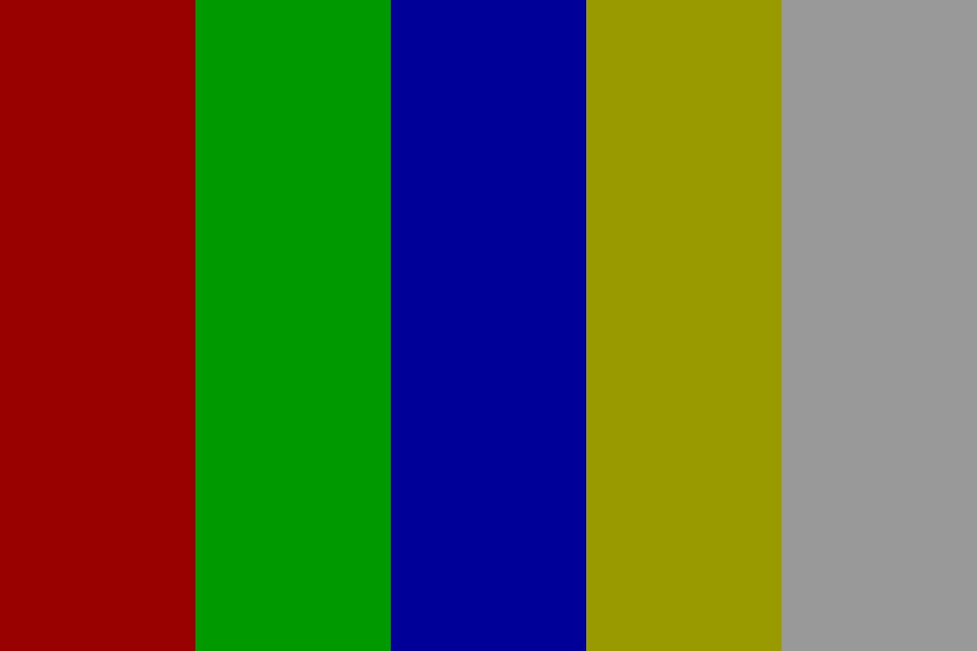 Rgby wht (Grey Overlay) Color Palette
