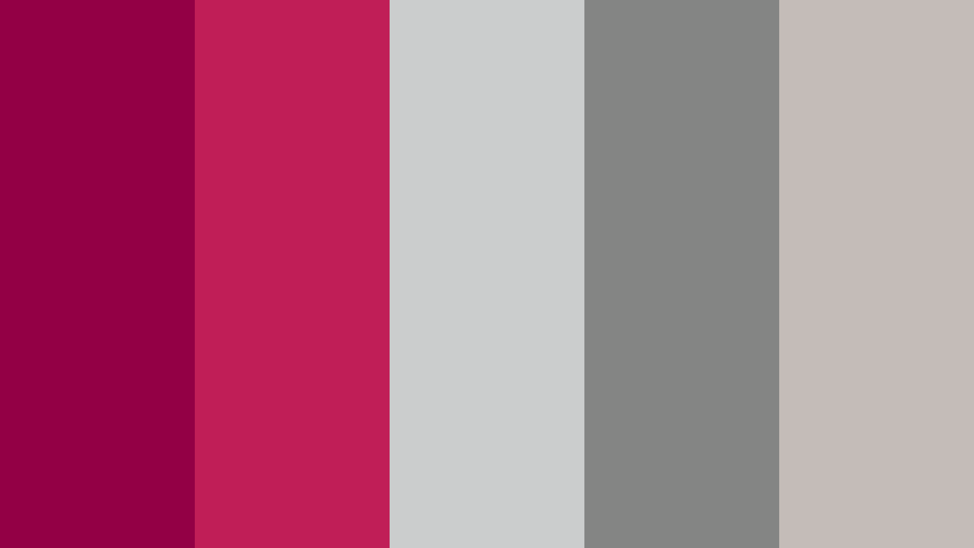 Rose Red And Silver Color Palette