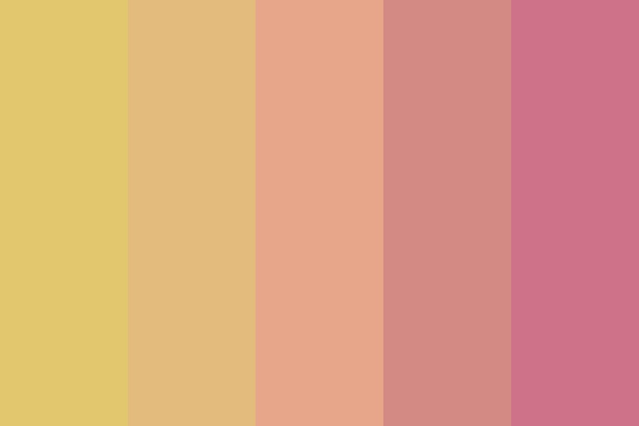 Roses And Gold Color Palette