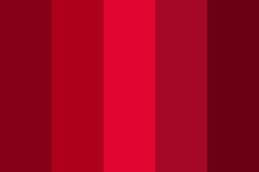 Ruby Red Color Palette