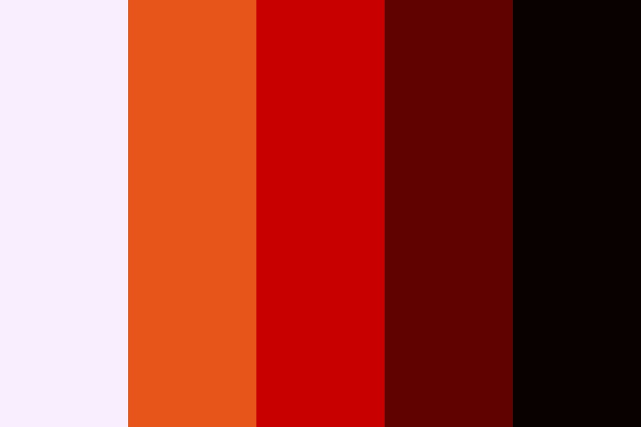 Rust Red Color Palette