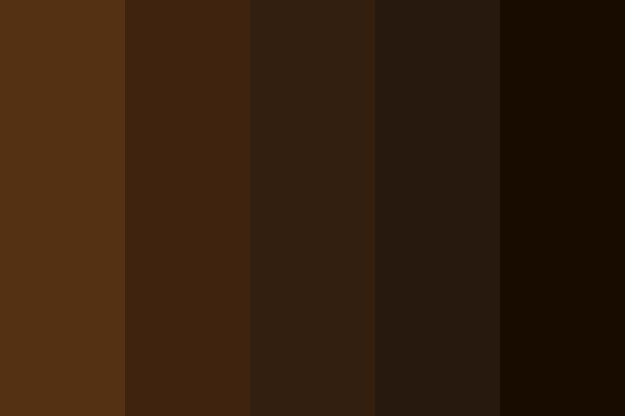 Sable Brown Hair Swatches Color Palette
