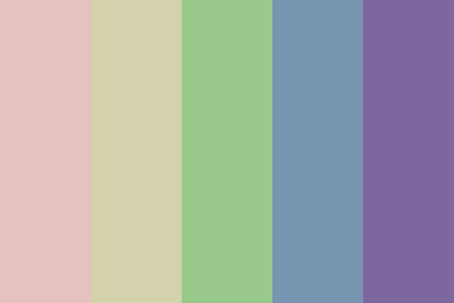 Sad Pastel Colors Color Palette