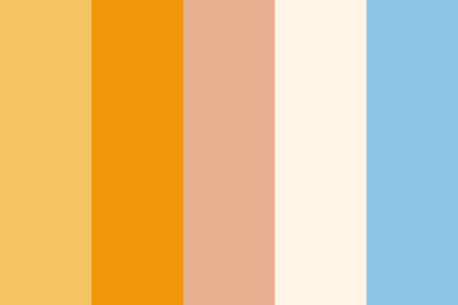 Sandy Sunset Color Palette