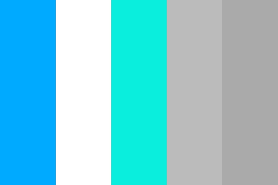 Sea Blue And White Color Palette
