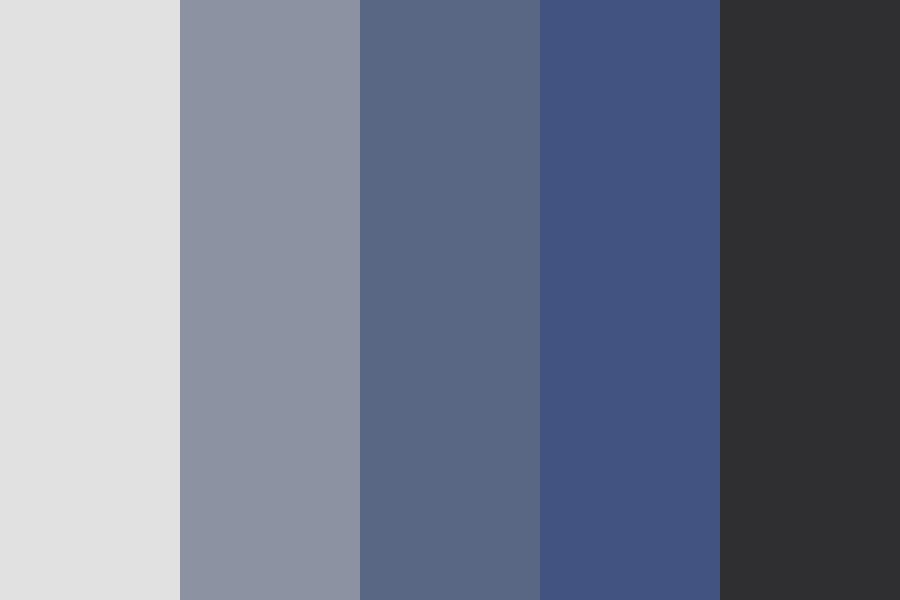 Sea Bottom Blue Color Palette
