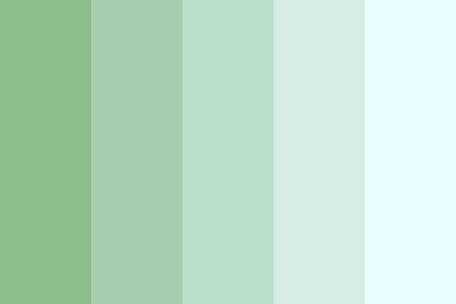 Sea Green Bubbles Color Palette