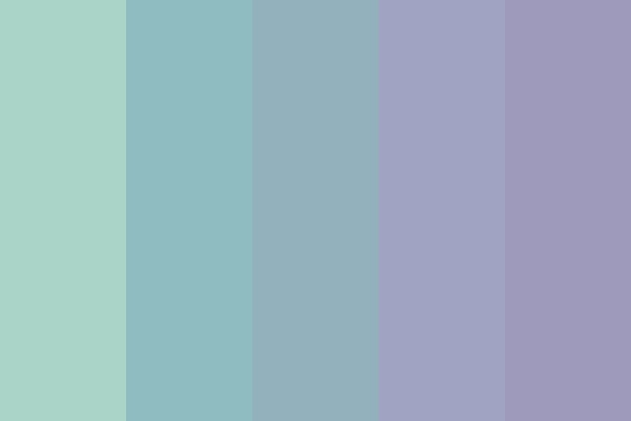 Sea Green See Blue Color Palette