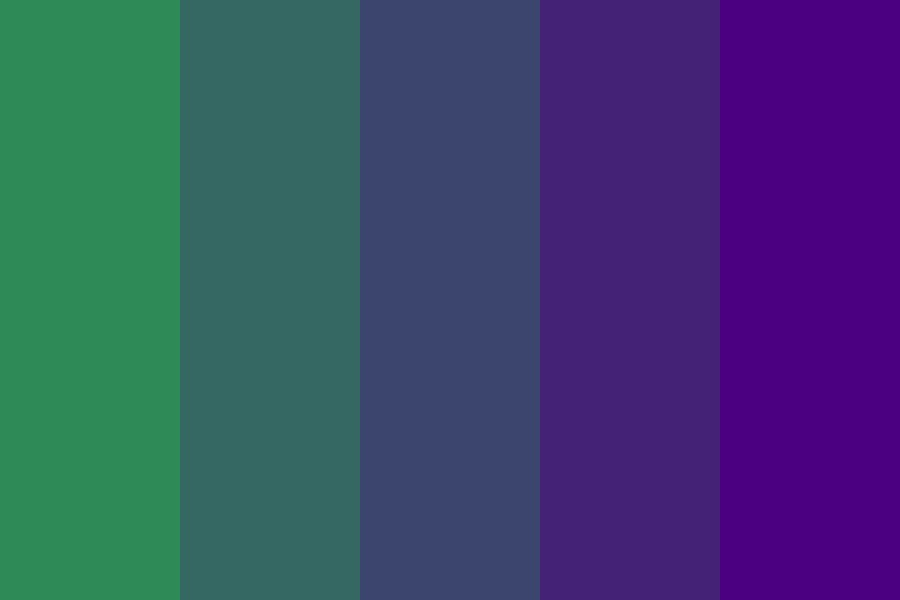 Sea Green To Indigo Color Palette