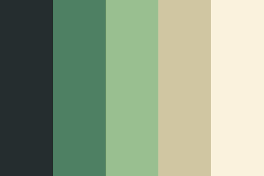 Sea Of Green Color Palette
