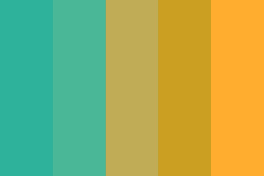 Sea Orange Color Palette