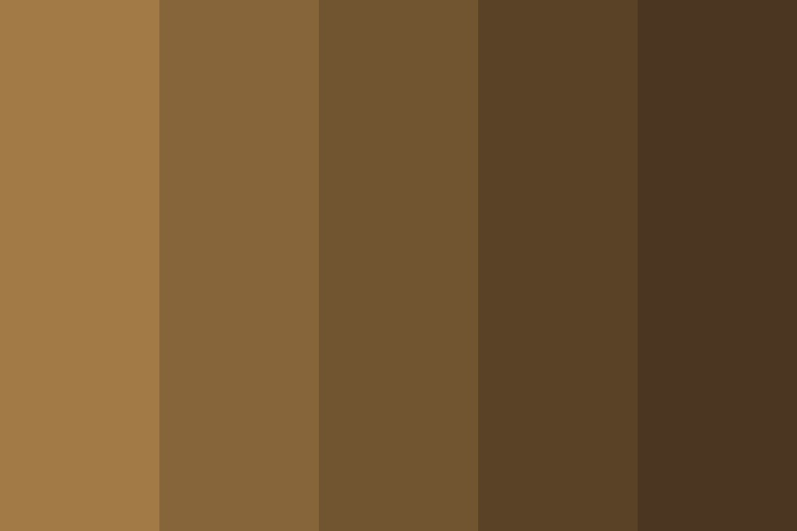 Sepia Brown Hair Swatches Color Palette