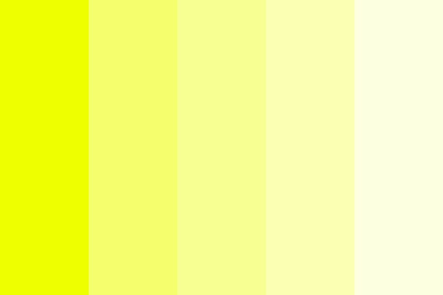 Series Of Yellows Color Palette