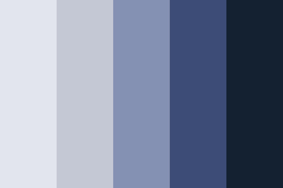 Serious Blues Color Palette