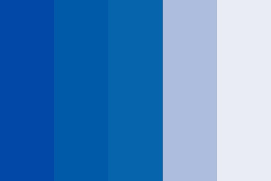 Shade Of Blue Color Palette