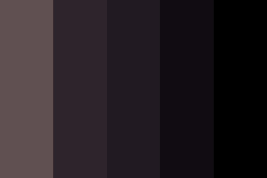 Shades Of Black Color Palette