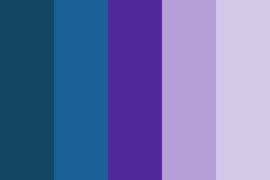 Shades Of Blue And Purple Color Palette
