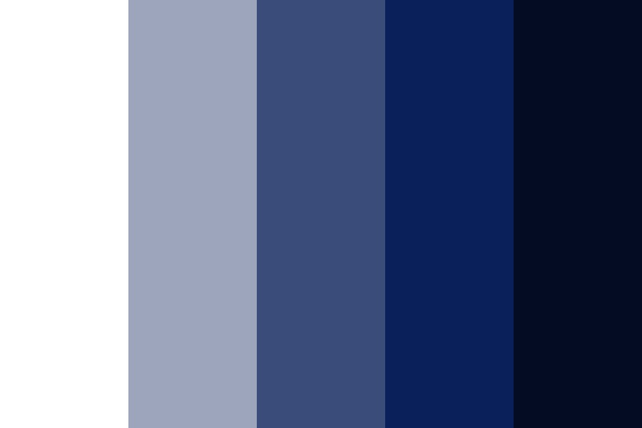 Shades Of Blue For Space Theme Color Palette