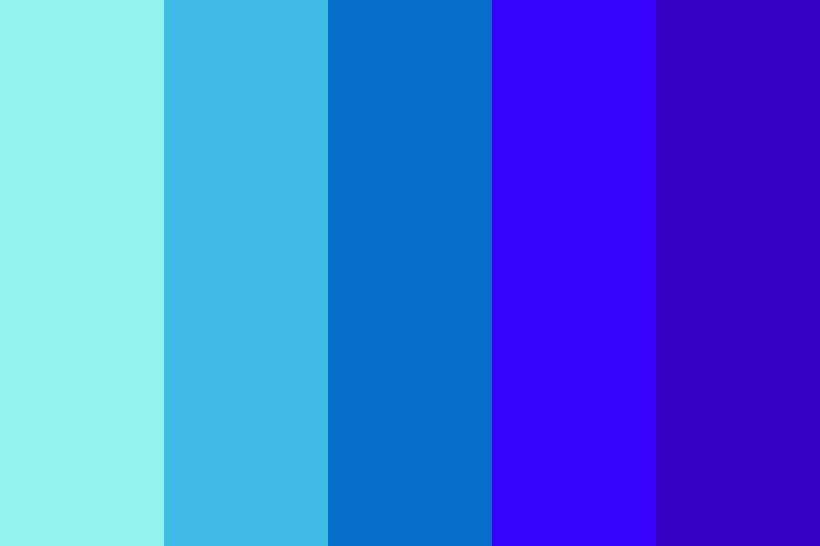 Shades Of Blue New Color Palette