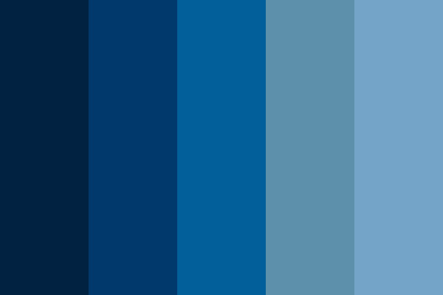 Shades Of Bluee Color Palette