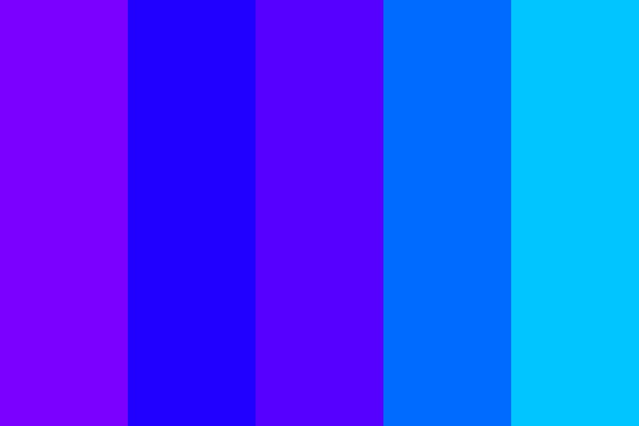 Shades Of Bright Blue And Also Purple Color Palette
