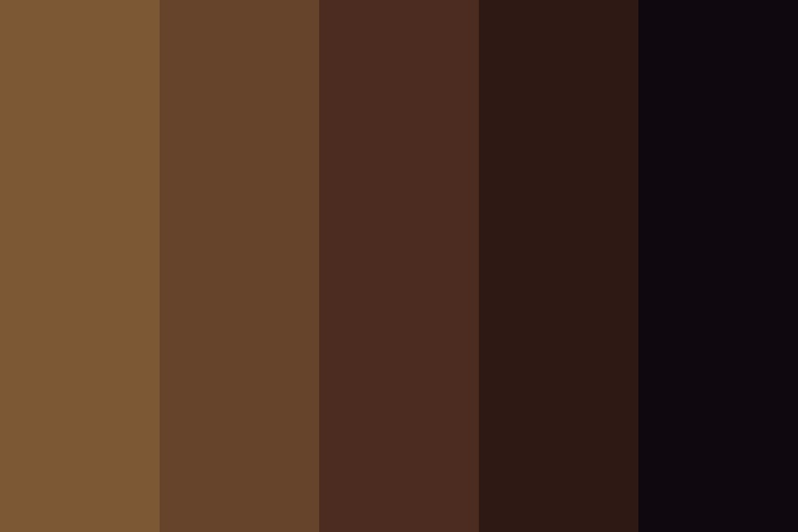 Shades Of Brown Color Palette
