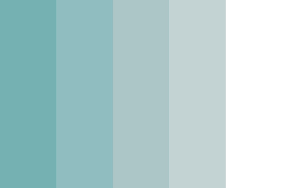 Shades Of Cadet Blue Color Palette